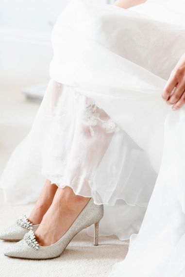 Jimmy Choo bridal shoes with jewel detail