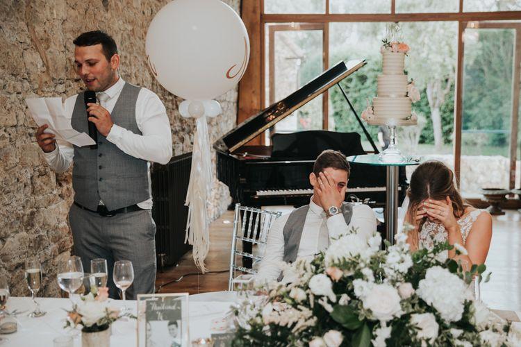 Best mans wedding speech at Notley Abbey