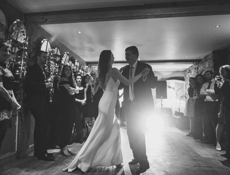 Bride and groom first dance at The Orange