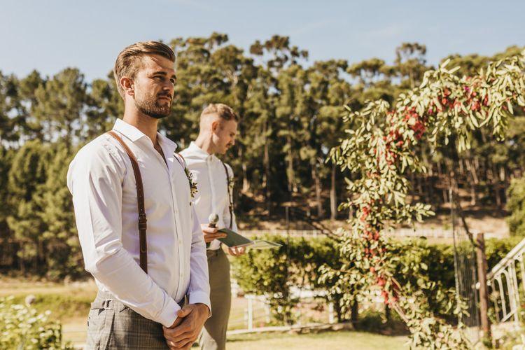 Groom waits bride's arrival