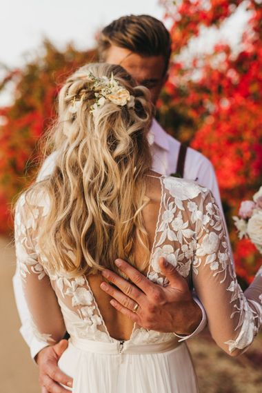 Gorgeous bridal hair for destination wedding