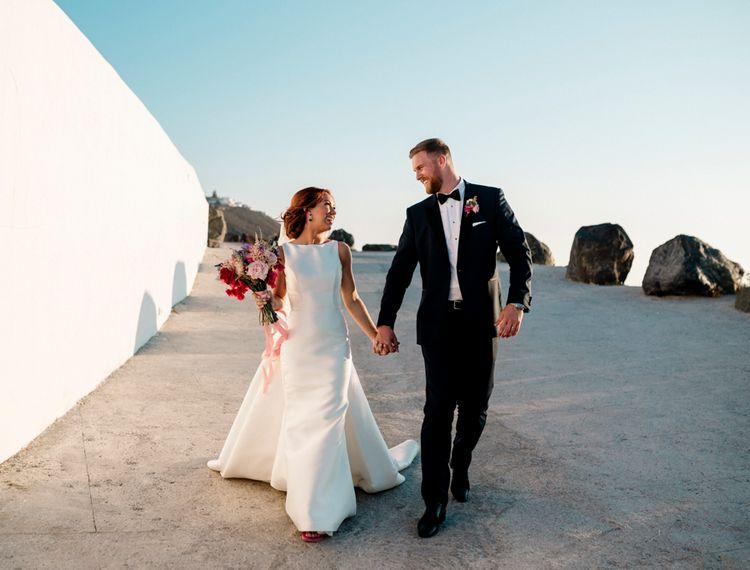 在婚礼上,穿着礼服和礼服的礼服,婚礼上的新娘