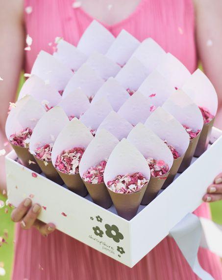 shropshire petals shropshire petals cone box with biodegradable petal confetti