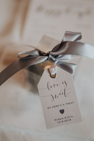 Love is sweet tag for wedding favours