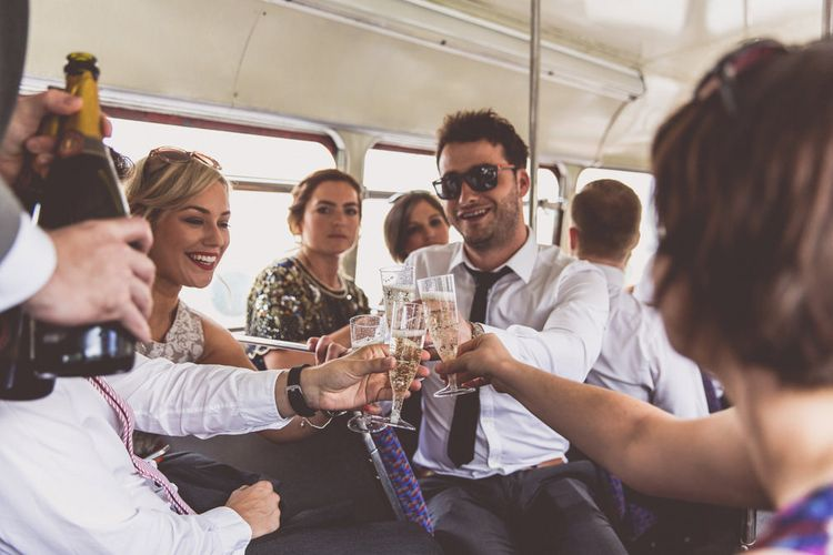 Wedding Guests on Bus