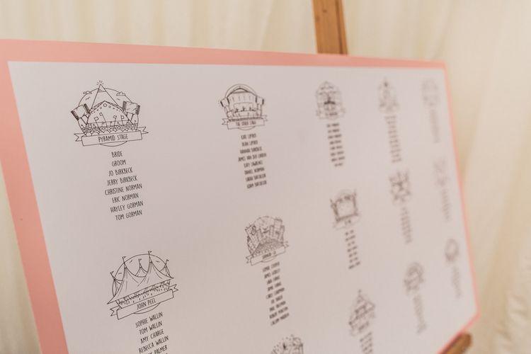 Glastonbury Themed Table Plan
