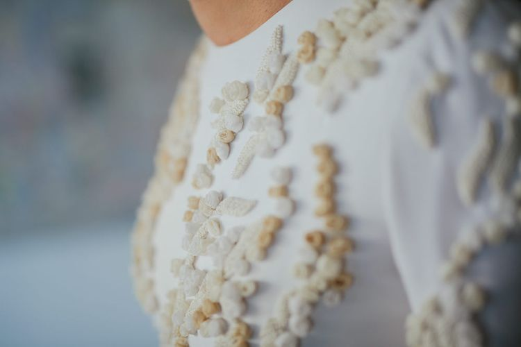 Bride Wearing Jorge Vazquez