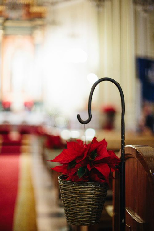 Flowers At End Of Pews