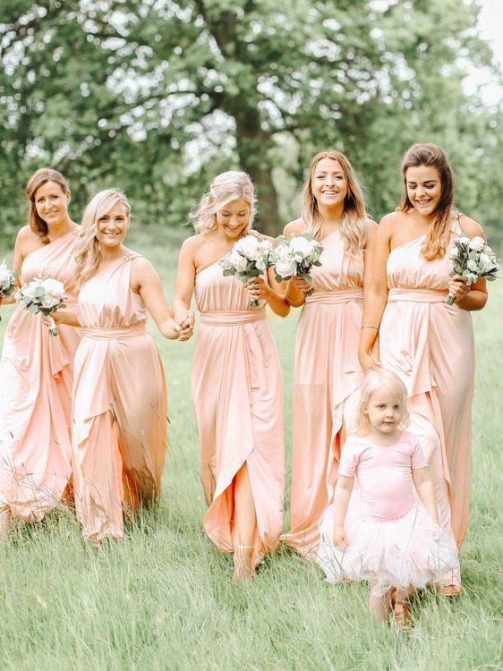 Blush Pink ASOS Bridesmaid Dresses