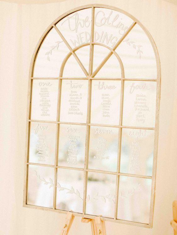 Window Pane Table Plan