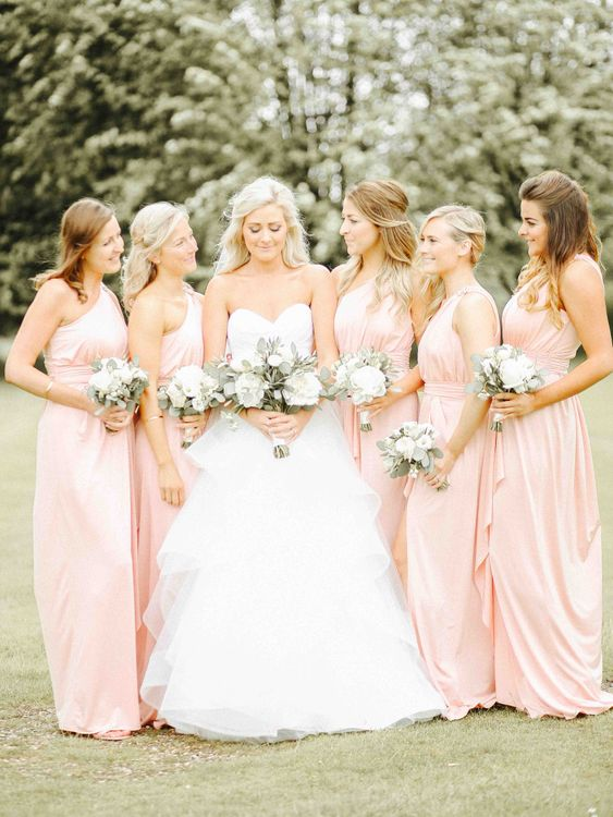 Bride & Blush Pink ASOS Bridesmaid Portraits