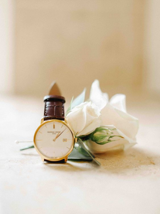 Grooms Buttonhole & Watch