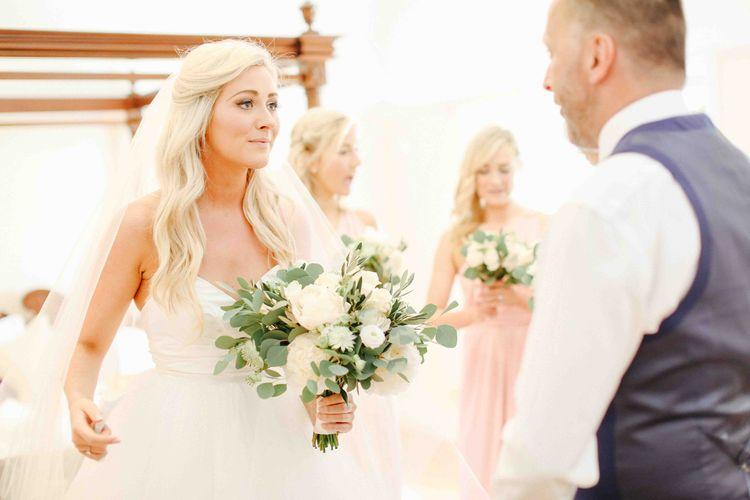 Bride in Princess Hayley Paige Londyn Wedding Dress