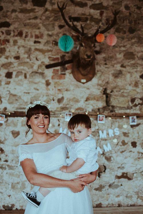 Bride - Mother & Son Portrait