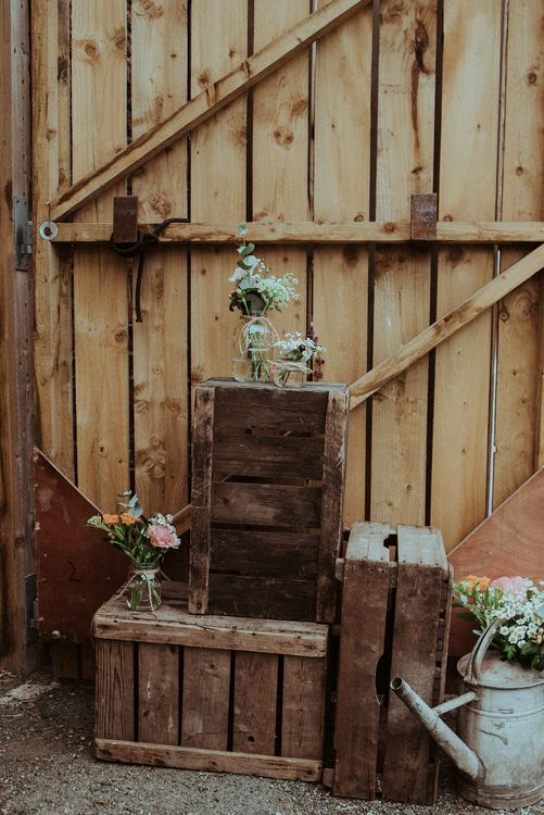 Rustic Crate Wedding Decor