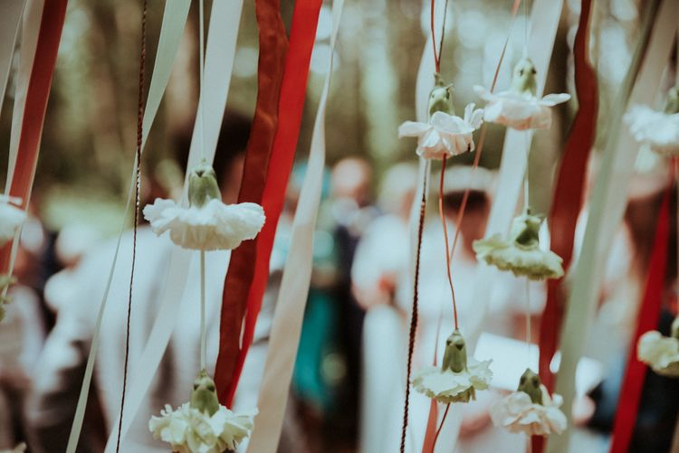 Ribbons & Flowers Wedding Decor