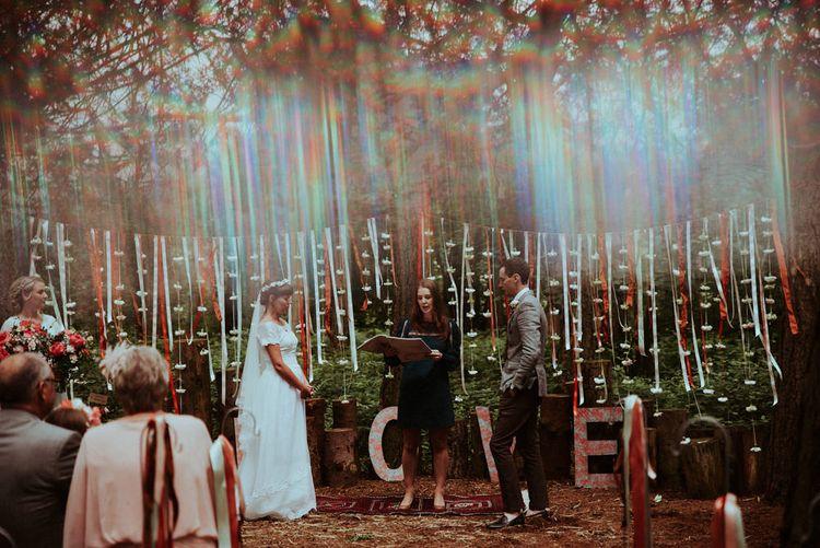 Hanging Ribbo Wedding Ceremony