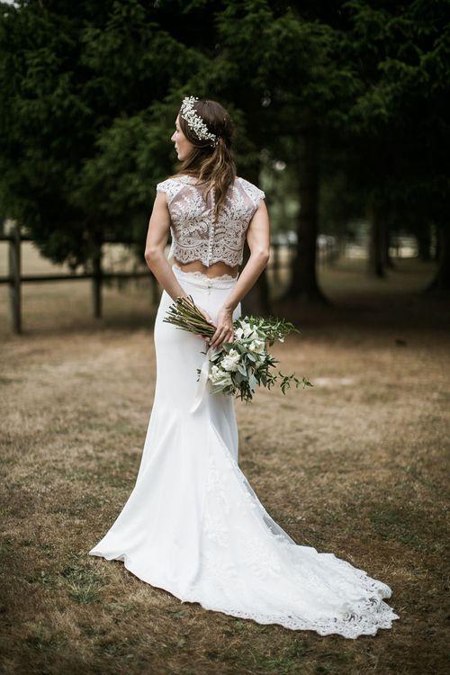 Bride in Lace Rime Arodaky Bridal Separates