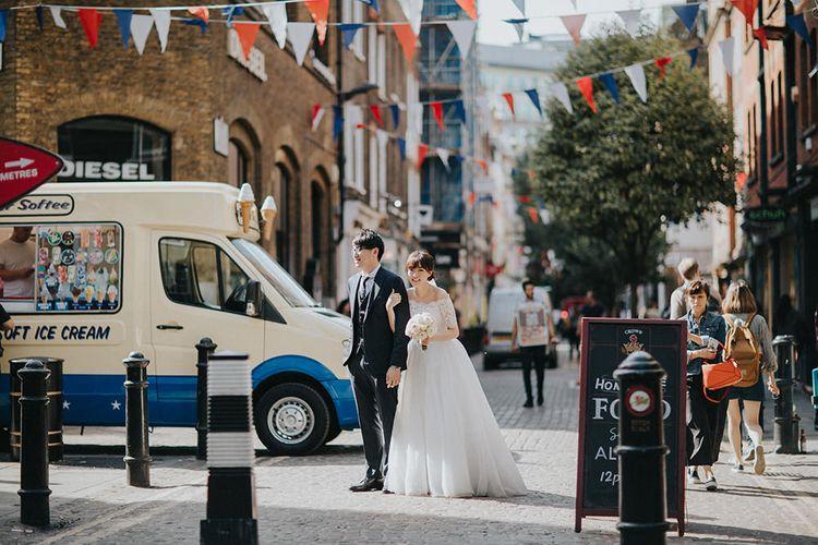 Covent Garden Bride & Groom Portrait