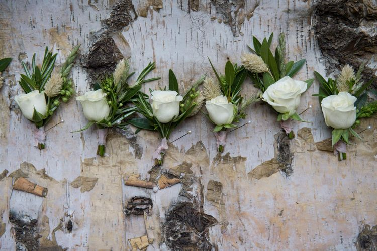 White Rose Buttonholes