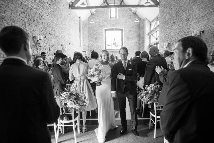 Bride & Groom Ceremony Portrait