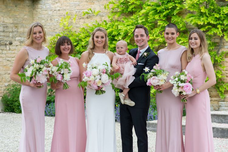 Pink Dessy Bridesmaid Dresses