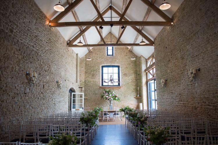 Barn Ceremony room at Merriscourt