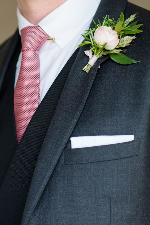 Pink Tie & Buttonhole