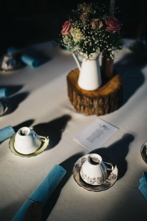 Vintage China | Rustic Centrepieces