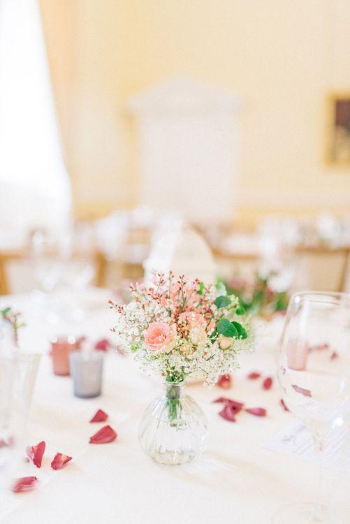 Pink Floral Centrepieces
