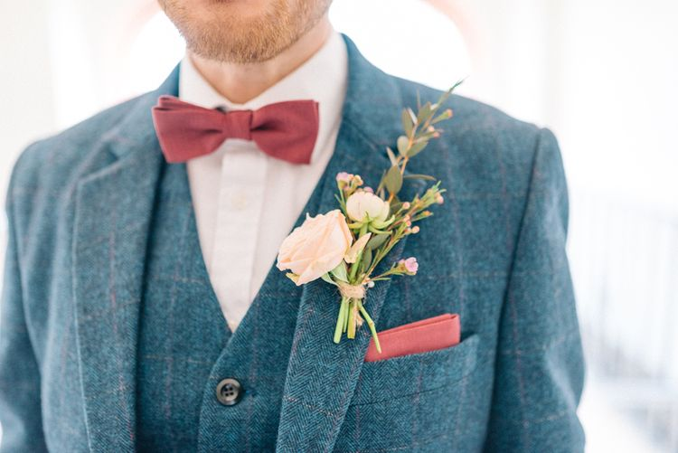 Grooms Buttonhole & Bow Tie