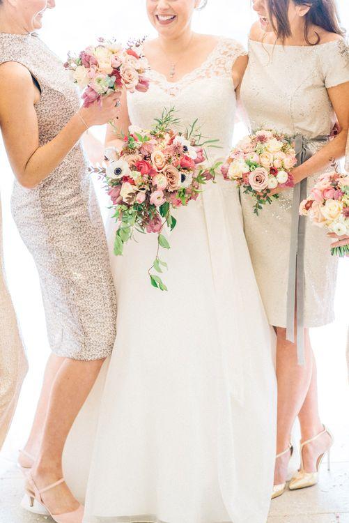 Bridesmaids Pink Bouquets