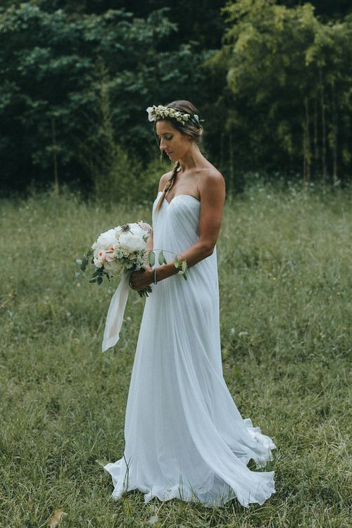 Bride in Alexander McQueen Wedding Dress