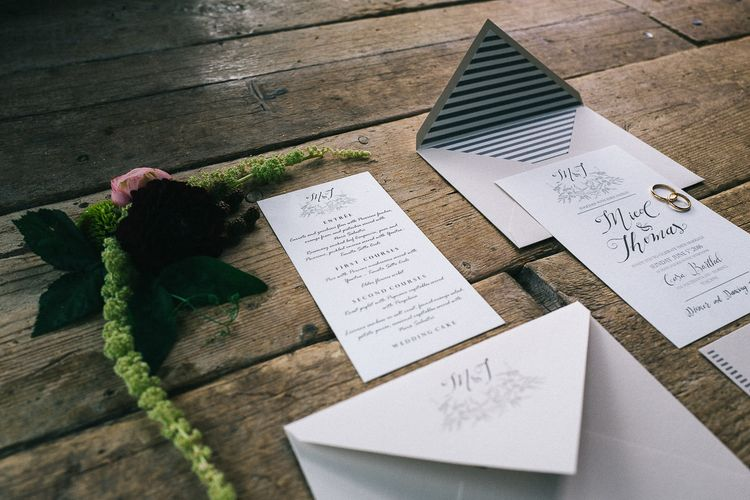 Elegant Wedding Stationery Suite by The Wedding Letters
