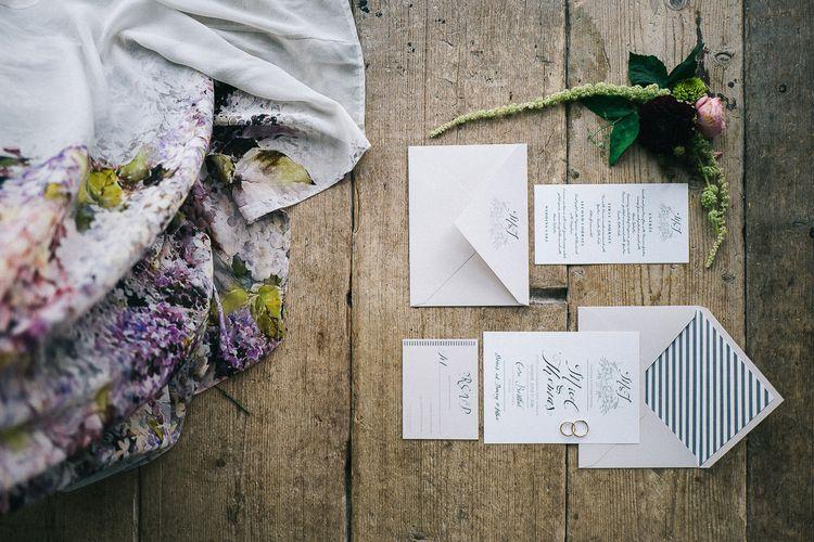 Wedding Stationery & Floral Print Dress