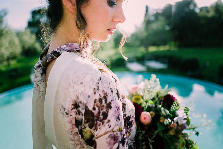 Floral Wedding Dress by Anna Fuca