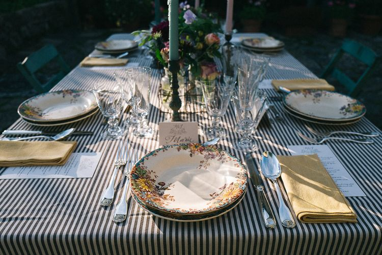 Tuscan Rustic Table Styling