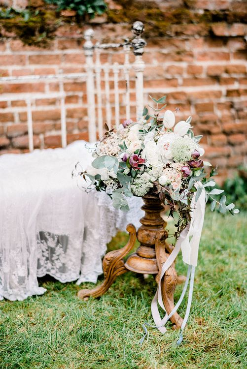 Romantic Florals by Fallen Flower Design | Dreamy Floral Fairytale Wedding Inspiration at Great Lodge in Essex | Kathryn Hopkins Fine Art Photography