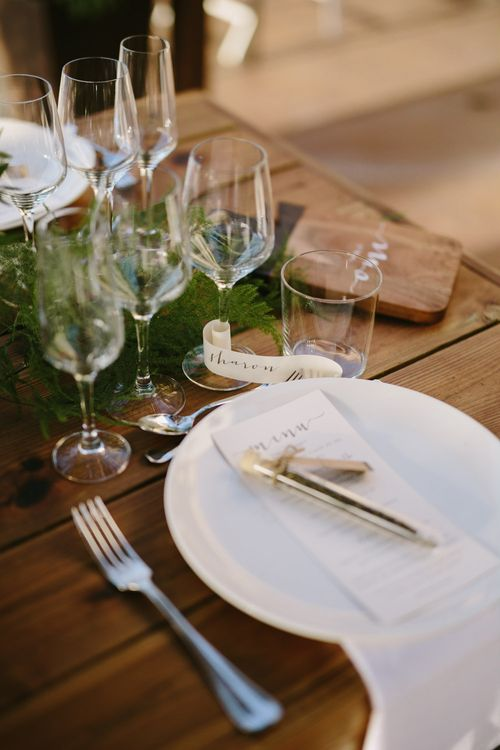 Wedding Styling Table Scape - White, Green & Mustard Colour Palette