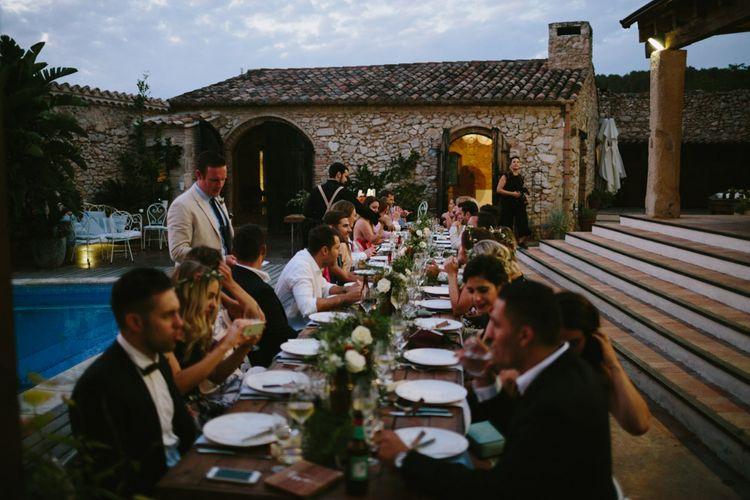 Wedding Reception Al Fresco Dinner