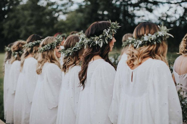 Abbi From Save The Date Magazine Gets Married Wearing Margaux Taridts & Grace Loves Lace Outdoor Festival Wedding With Tipis, Bell Tent Camping & Festoon Lights