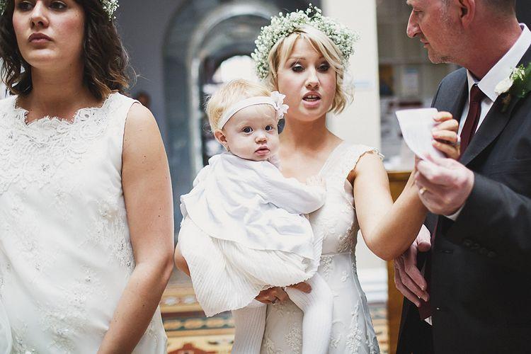 Bridesmaids in White