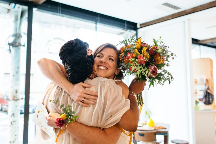 Hugs | | Relaxed Industrial Wedding at Ocean Studios, Plymouth | Freckle Photography