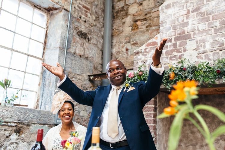 Wedding Speeches | | Relaxed Industrial Wedding at Ocean Studios, Plymouth | Freckle Photography