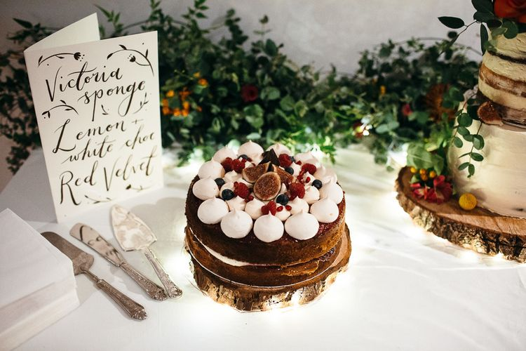 homemade Wedding Cakes | Floral Cake Topper | Relaxed Industrial Wedding at Ocean Studios, Plymouth | Freckle Photography