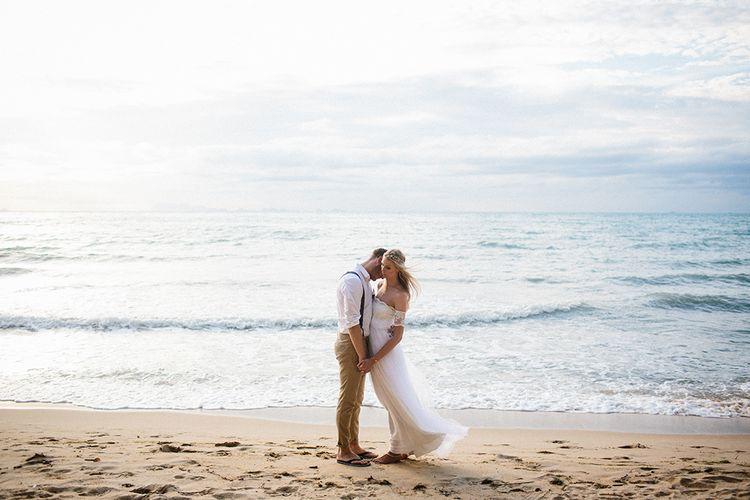 Bride & Groom Beach Portraits