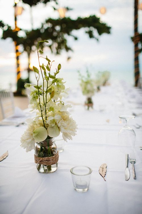 White Floral Centrepieces