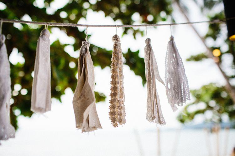 Lace Tassel Wedding Decor