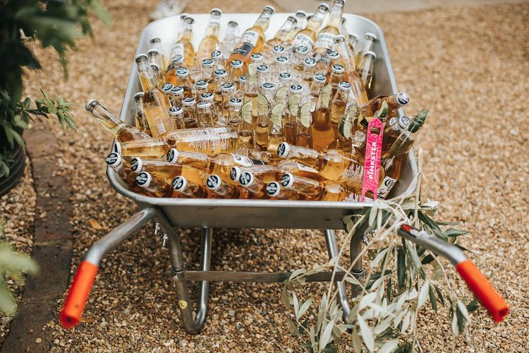 Beer Barrow | Rustic Barn Wedding Reception at Gate Street Barn, Surrey | Kirsty MacKenzie Photography