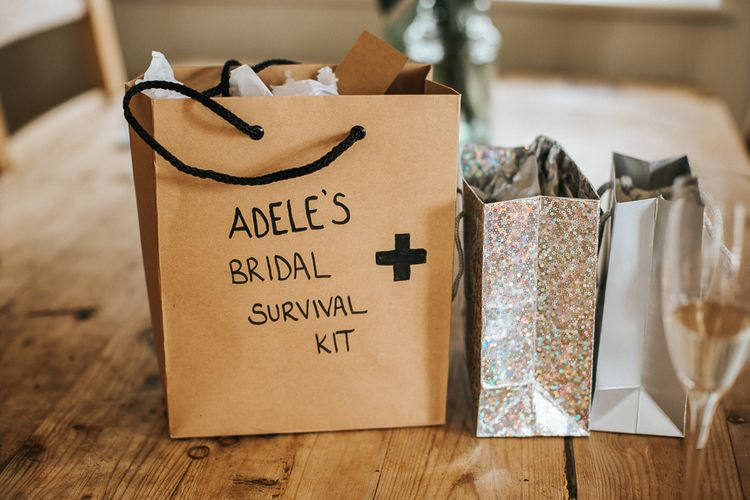 Wedding Survival Kit | Rustic Barn Wedding Reception at Gate Street Barn, Surrey | Kirsty MacKenzie Photography